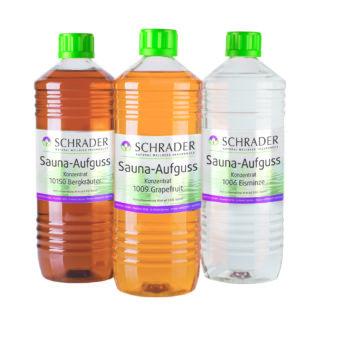 3 Flaschen Schrader Aufgussmittel
