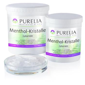 2 Dosen mit Schälchen Menthol Kristalle