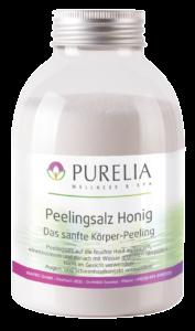 Flasche PURELIA Peeling Salz Honig 650g