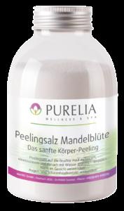 Flasche PURELIA Peeling Salz Mandeblüte 650g