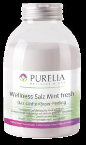Flasche PURELIA Peeling Salz Mintf resh 650g